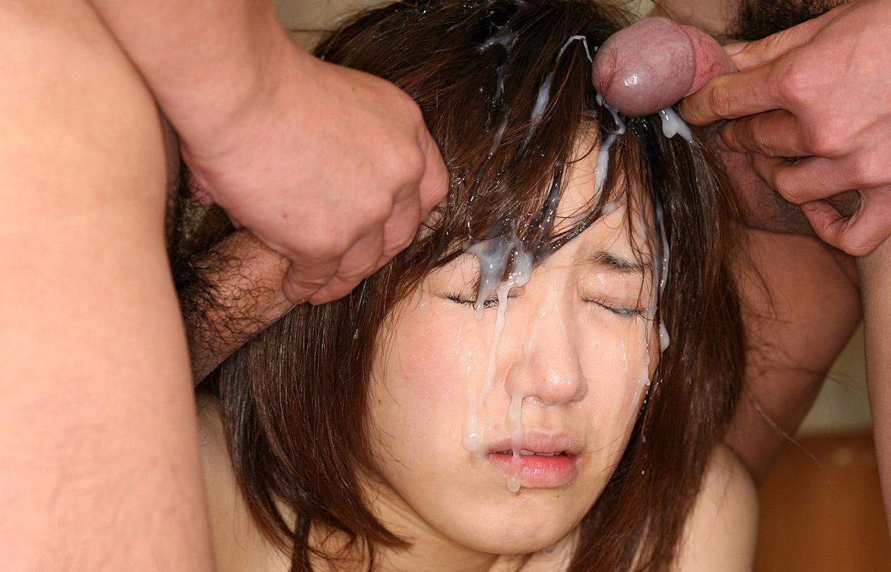 Amateur Asian Teen Gets Bukkake And Fucked In Gangbang